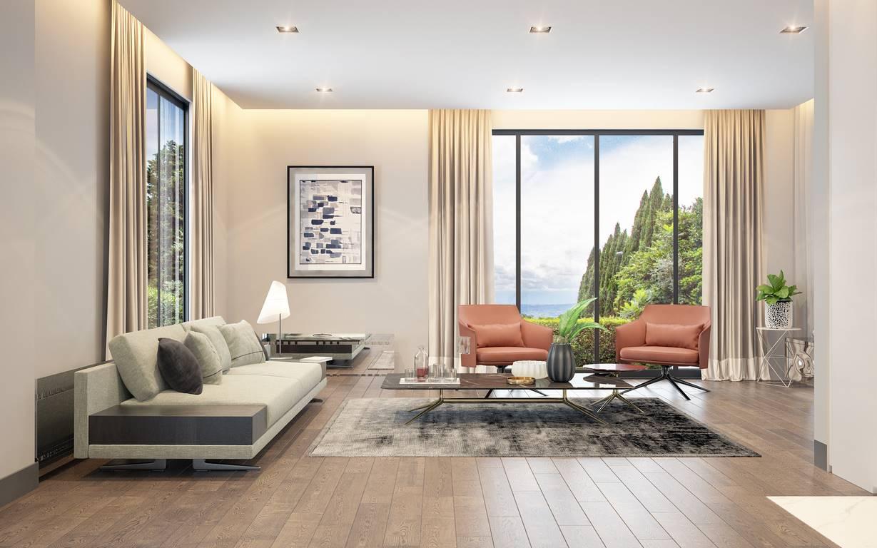 Acıbadem Akasya Villa oturma odası tasarımı