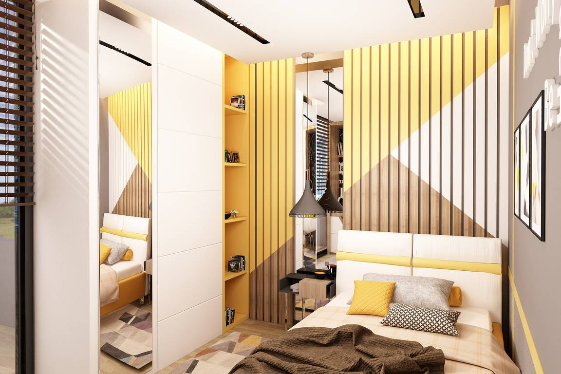 Acıbadem Akasya Villa yatak odası tasarımı