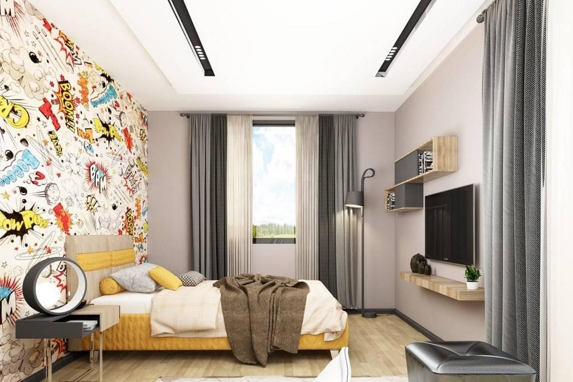 Acıbadem Akasya Villa yatak odası iç dekorasyonu