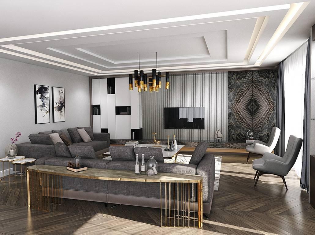 Villa dekorasyonu salon