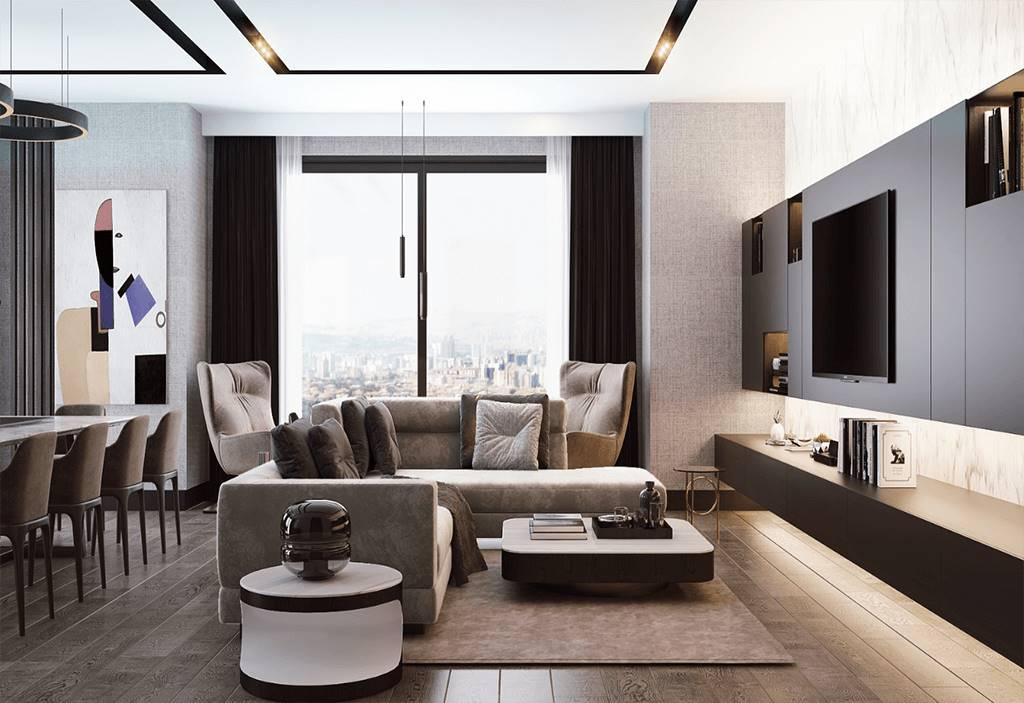 Bağdat Caddesi Projesi oturma odası tasarımı