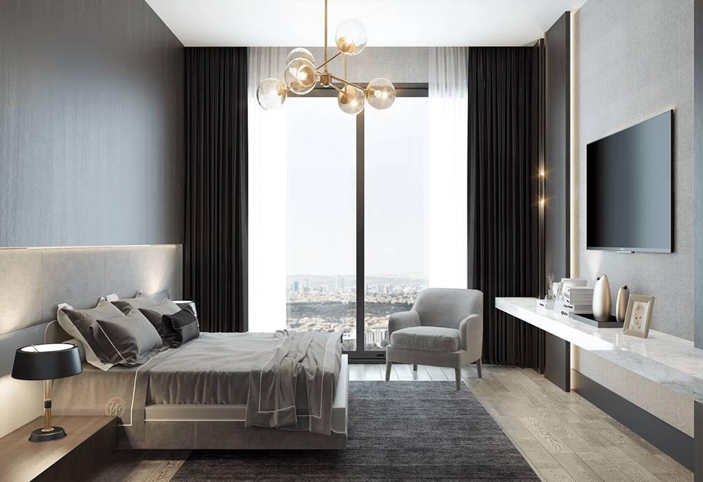 Bağdat Caddesi Projesi yatak odası tasarımı