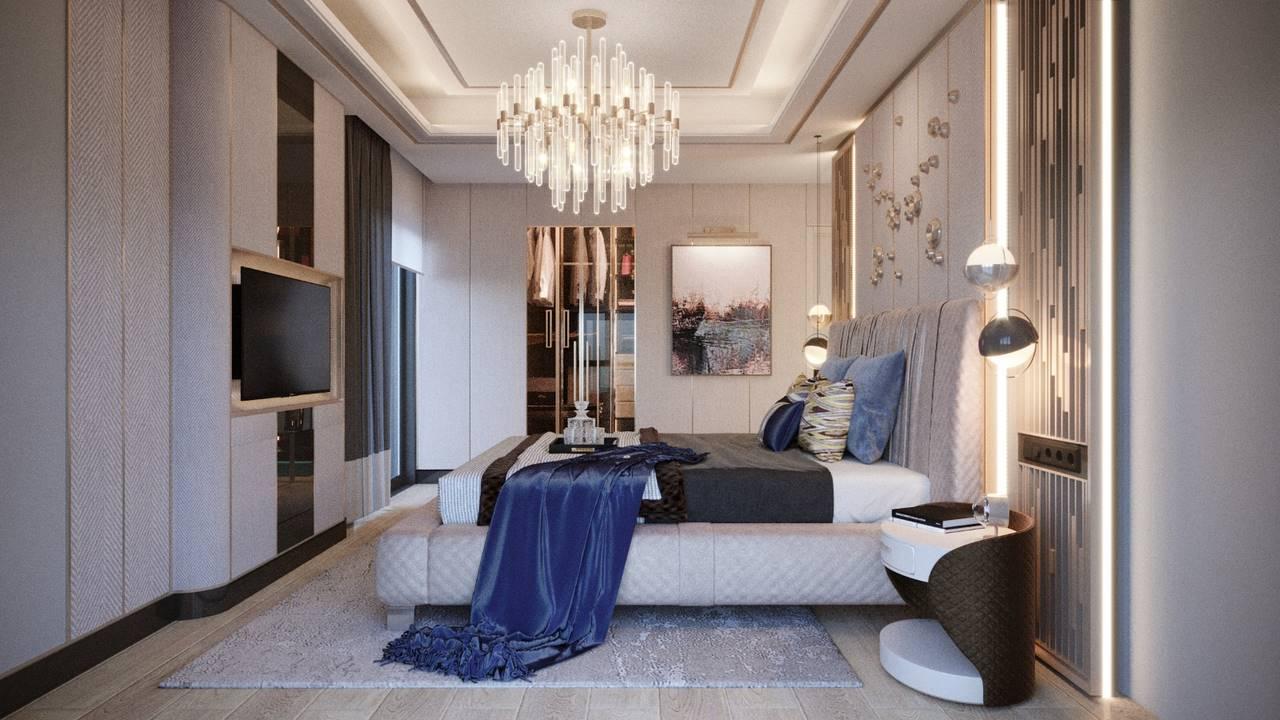 Bahçeşehir Penthouse Residence yatak odası tasarımı