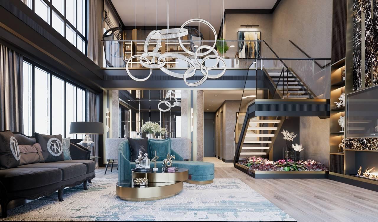 Bahçeşehir Penthouse Residence salon tasarımı