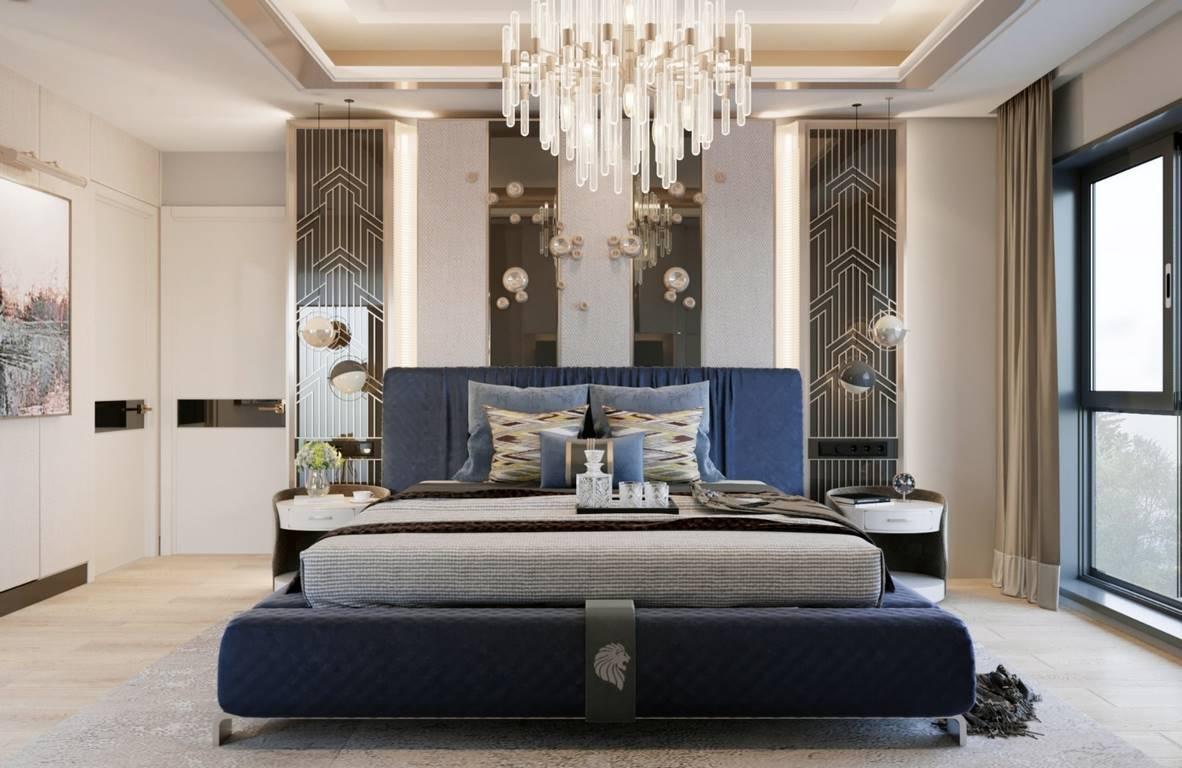 Bahçeşehir Penthouse Residence yatak odası dekorasyonu