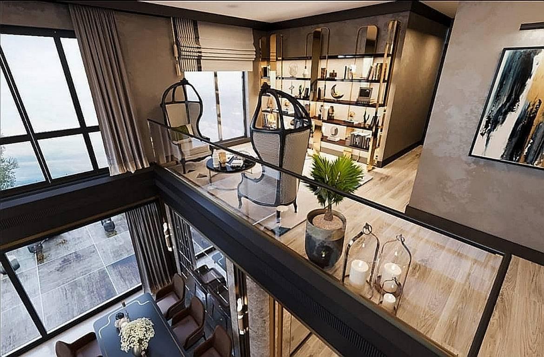 Bahçeşehir Penthouse Residence asma kat tasarımı