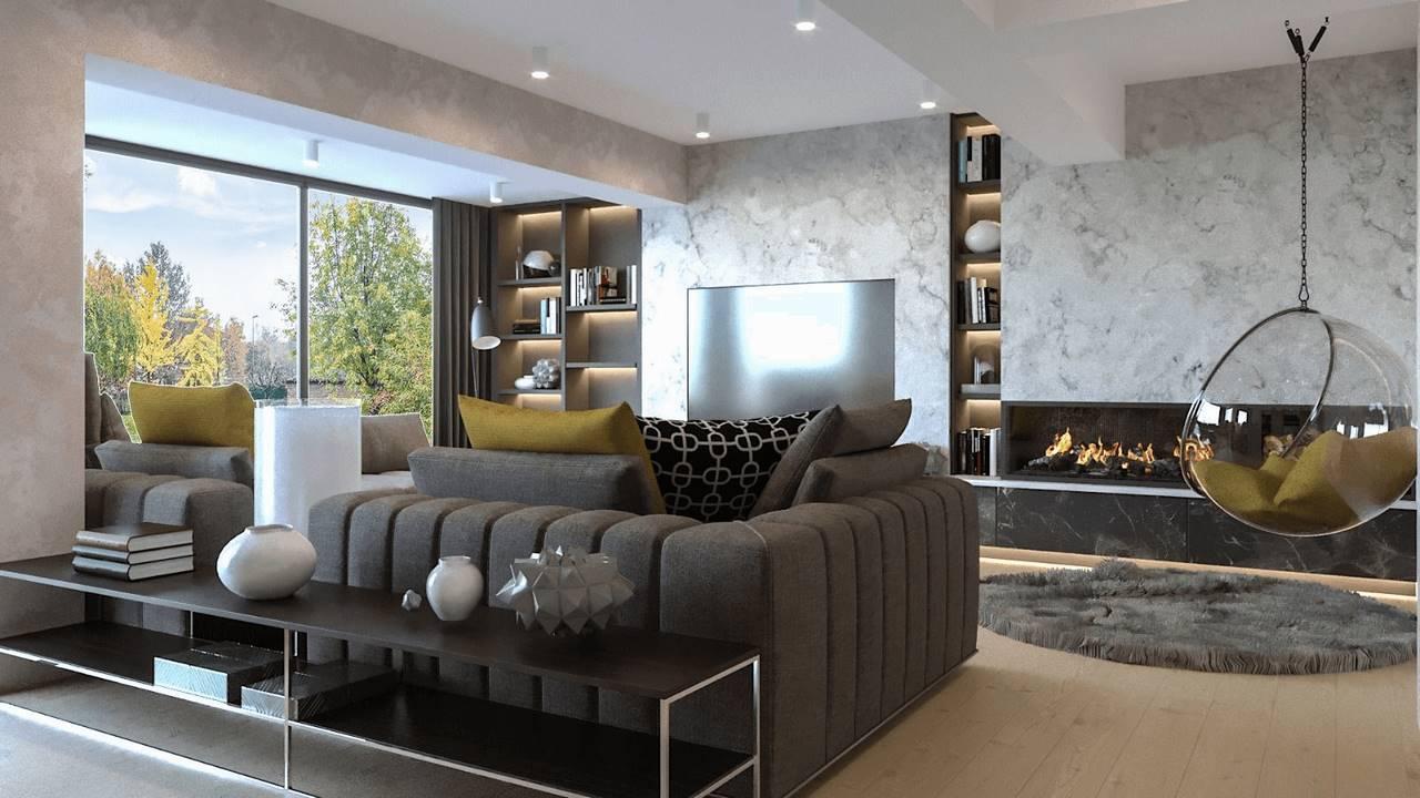 Beykoz Hisar Evleri Villa salon iç mimari tasarım