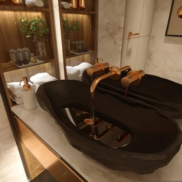 Beykoz Hisar Evleri Villa banyo iç dekorasyon
