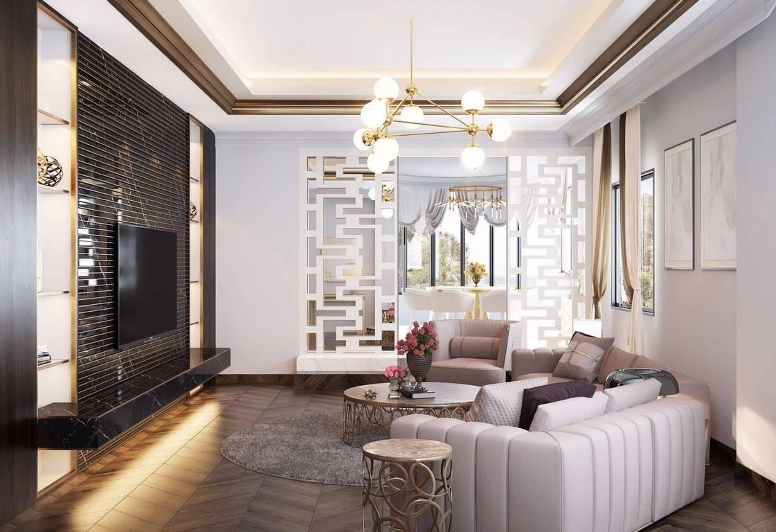 Bulgaristan Villa salon iç mimar tasarımı