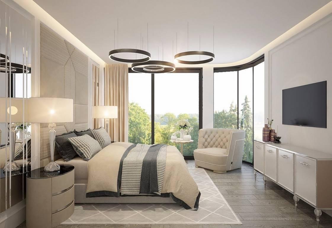 Bulgaristan Villa yatak odası iç mimari