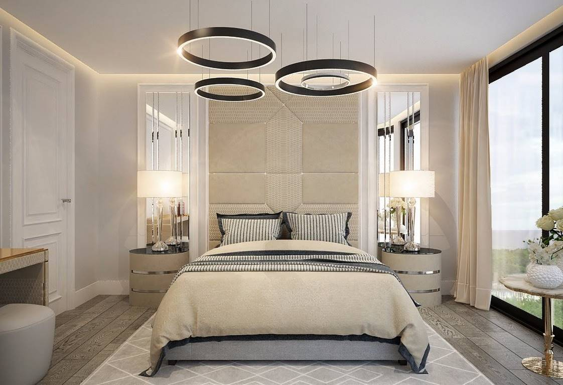 Bulgaristan Villa yatak odası iç dekorasyonu