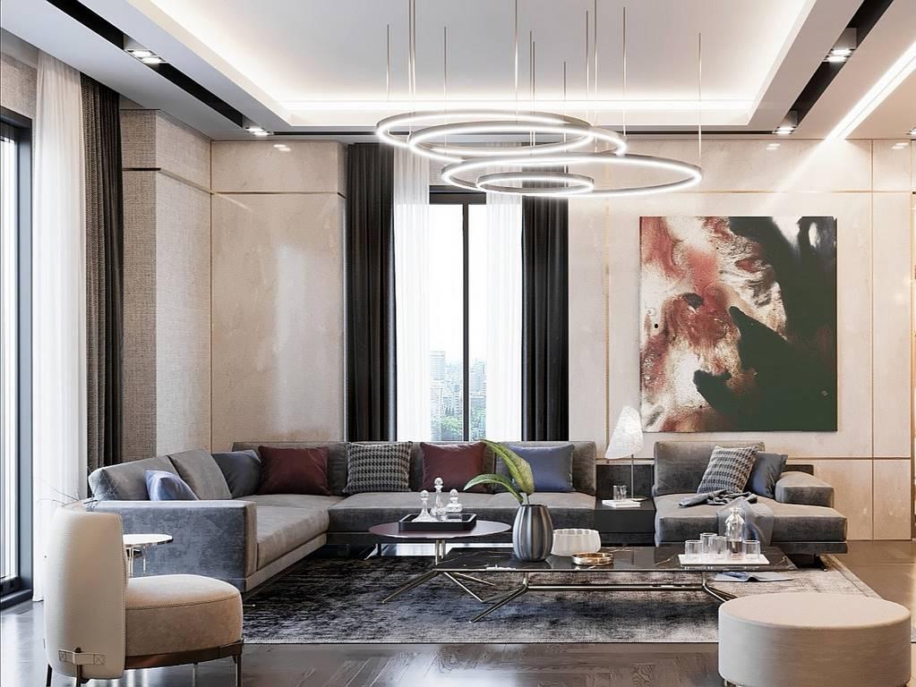 Demirlipark Evleri Residence salon iç dekorasyonu