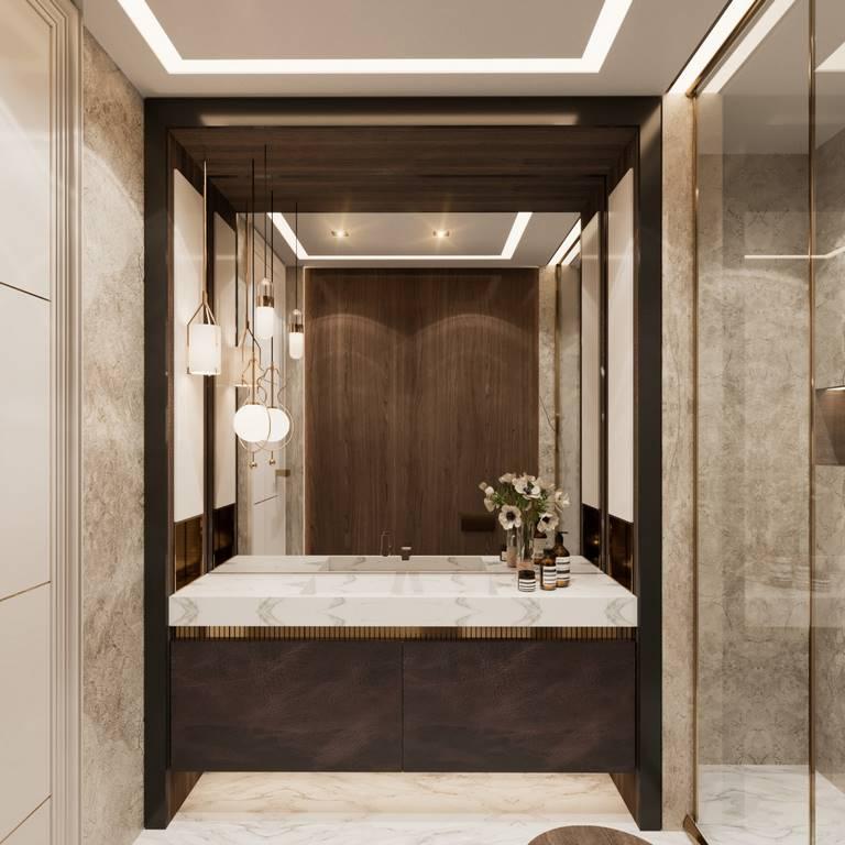 Demirlipark Evleri Residence banyo iç mimari