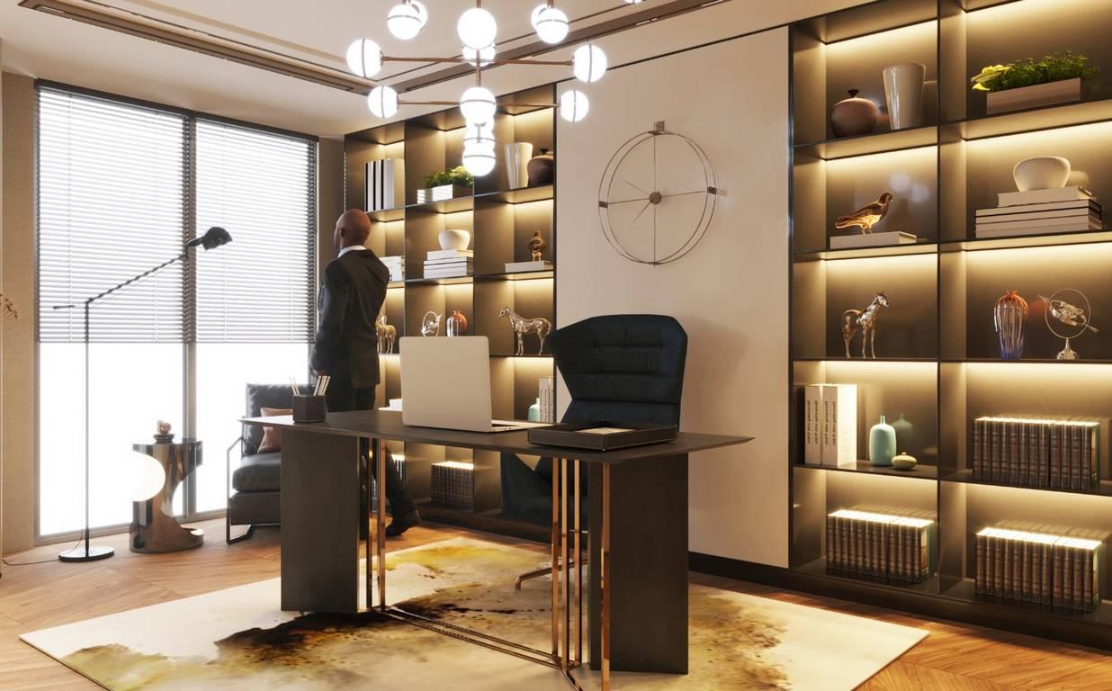 Demirlipark Evleri Residence çalışma odası tasarımı