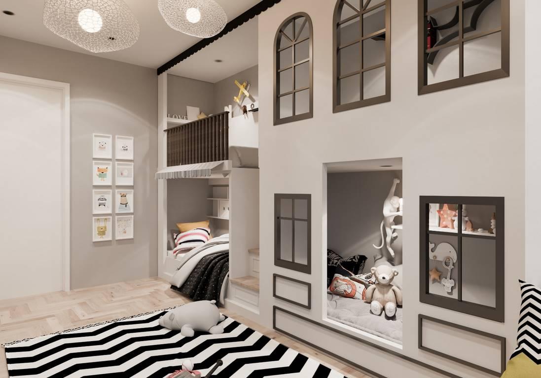 Demirlipark Evleri çocuk odası iç mimari