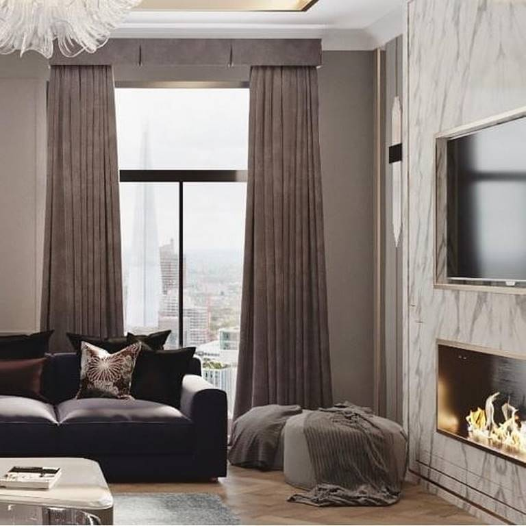 Emaar Square Residences oturma odası tasarımı