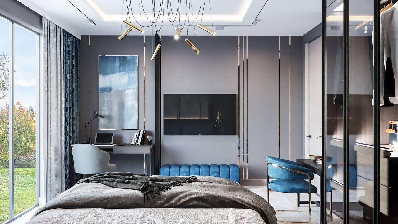 Emaar Square Residences yatak odası iç mimari