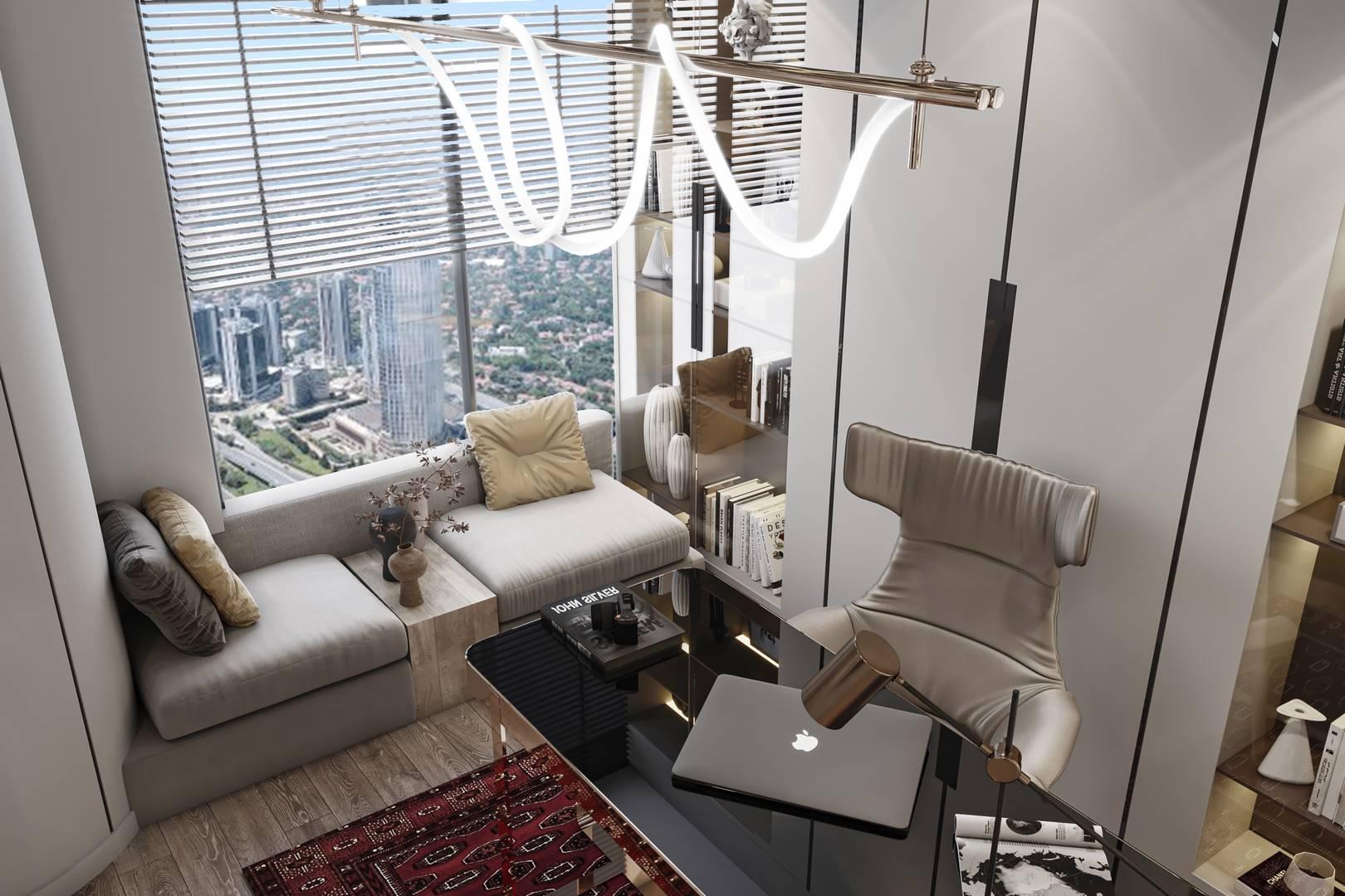 Çalışma Odası Tasarımı Emaar Residence