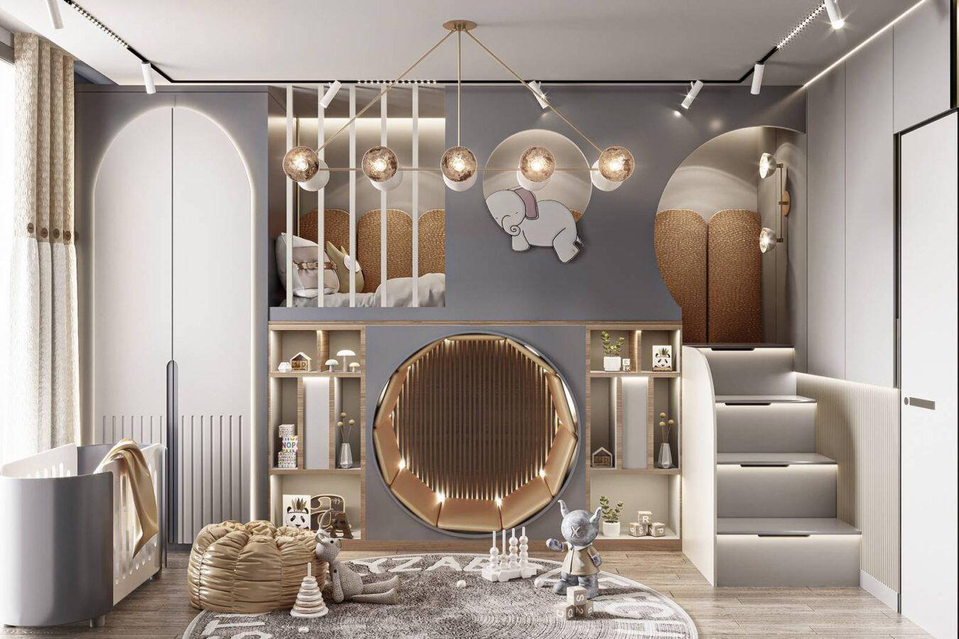 Emaar Square Rezidance çocuk odası tasarımı