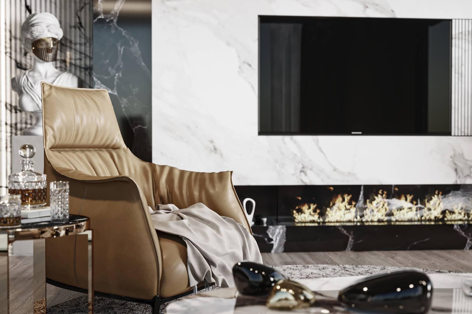 Emaar Residence Salon tasarımı