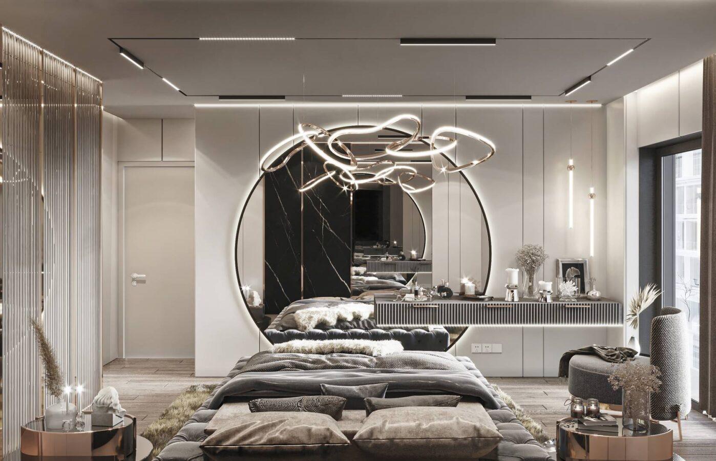 Emaar Square Rezidance yatak odası tasarımı