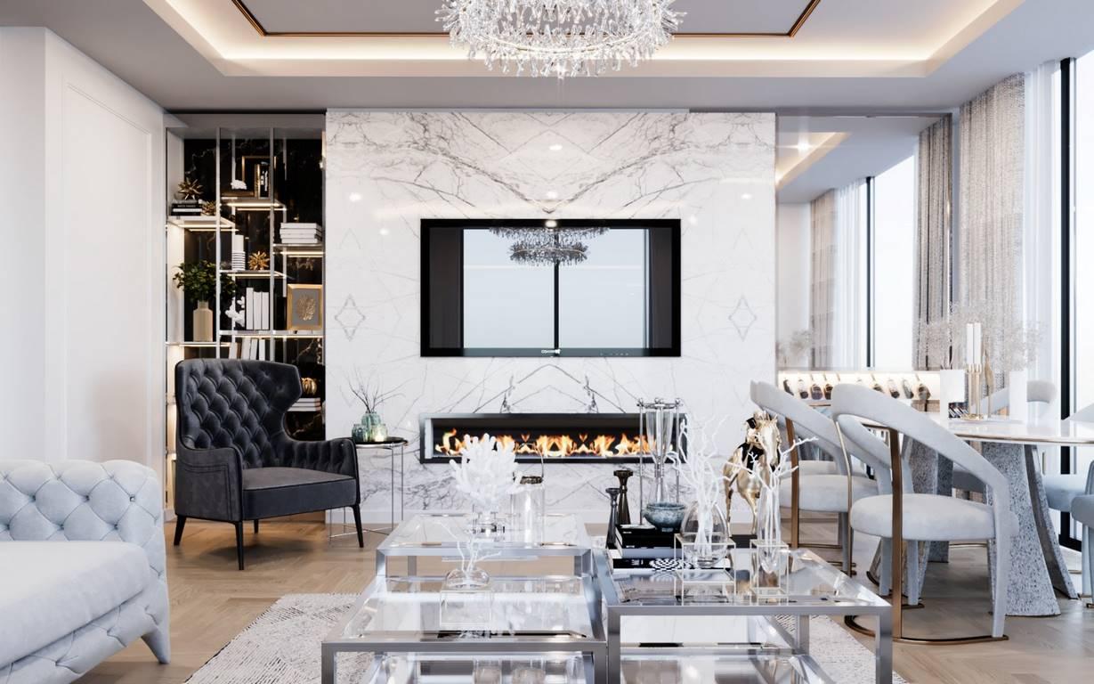 Erenköy Residence salon tasarımı