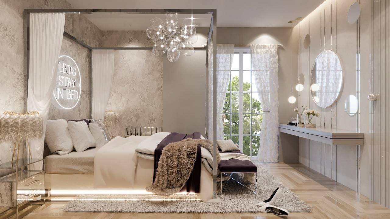 Erenköy Residence yatak odası tasarımı
