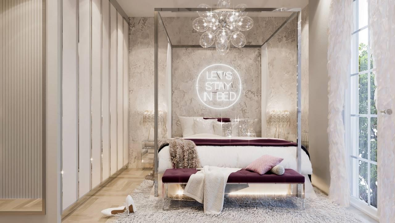 Erenköy Residence yatak odası dekorasyonu