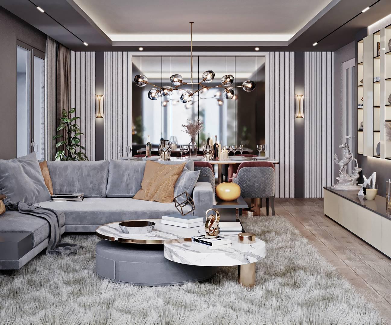 Güzelce Bizim Evler Salon Dekorasyonu