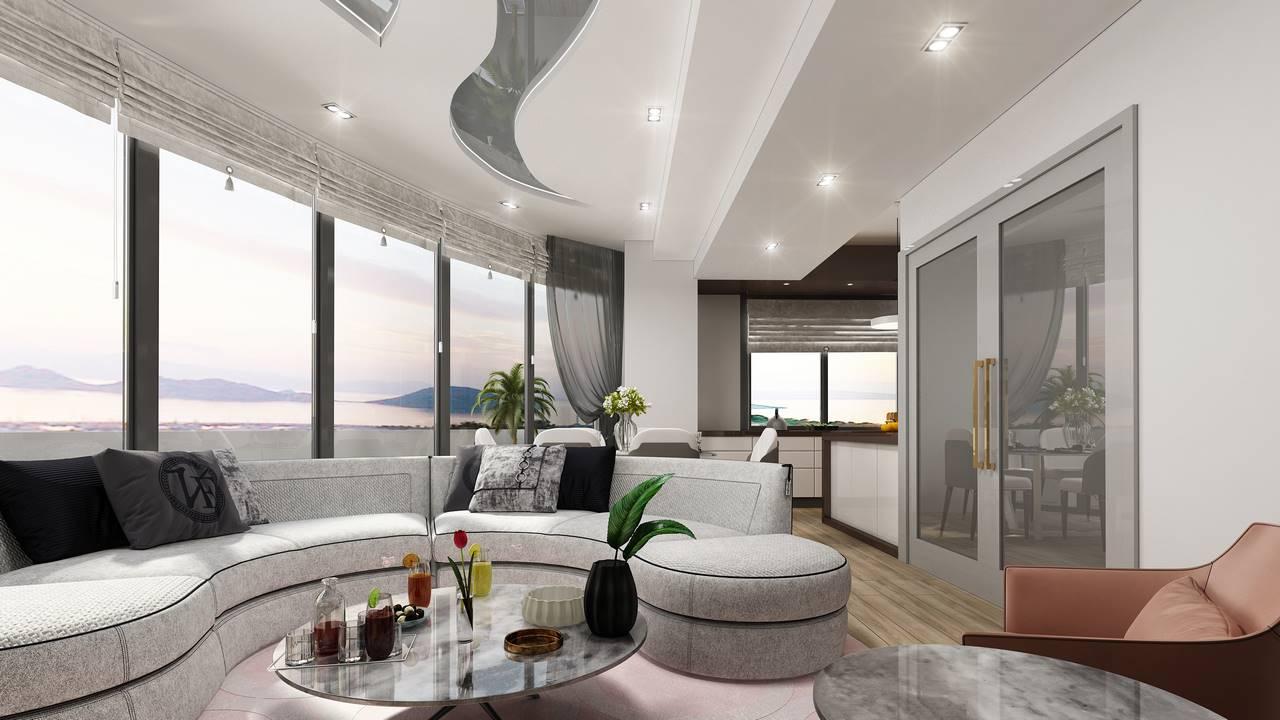 Kartal Marina İstanbul salon tasarımı