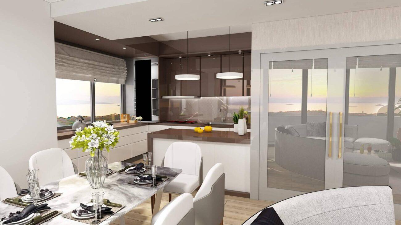 Kartal Marina Residence mutfak tasarımı