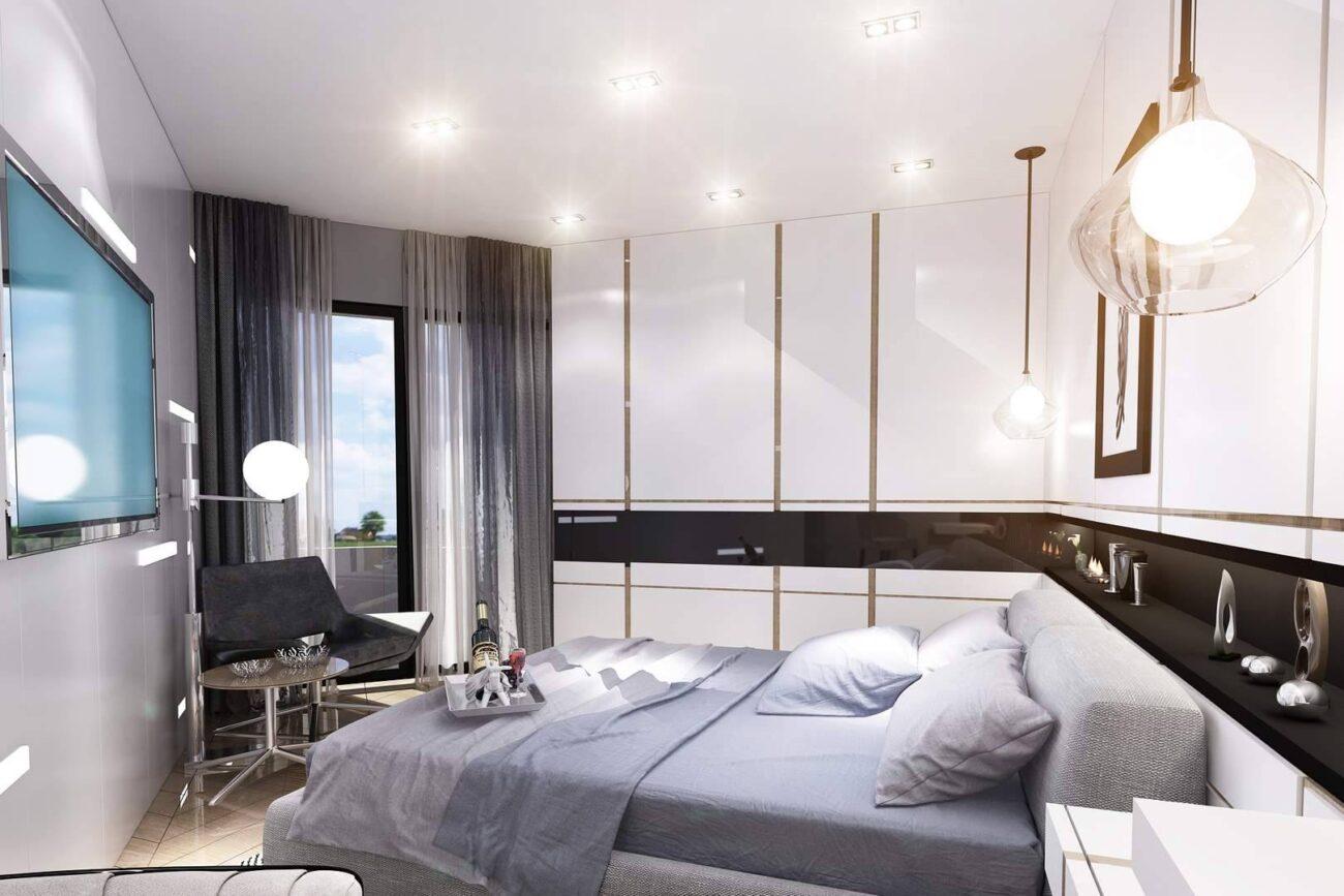 Kartal Marina Residence İstanbul yatak odası tasarımı