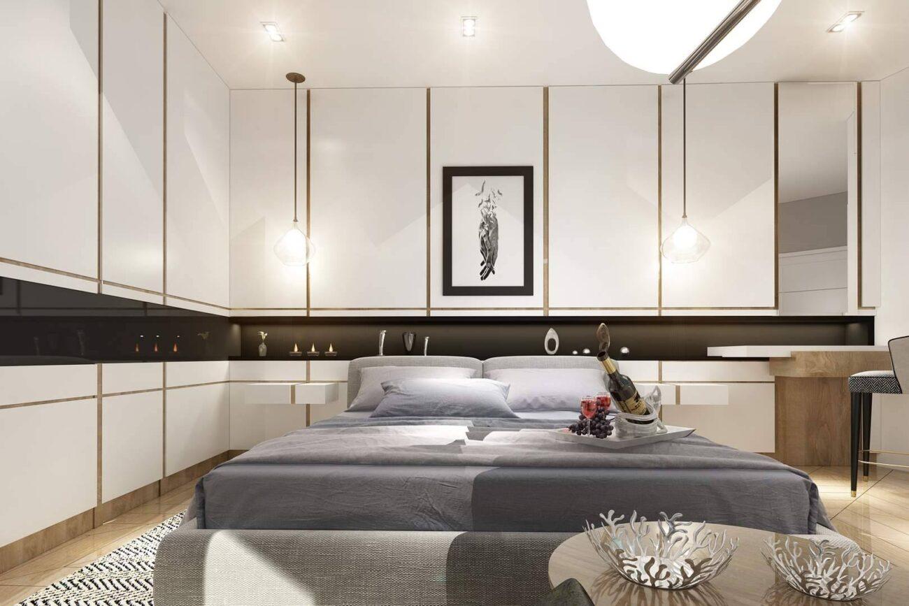Kartal Marina Residence yatak odası iç mimar tasarımı
