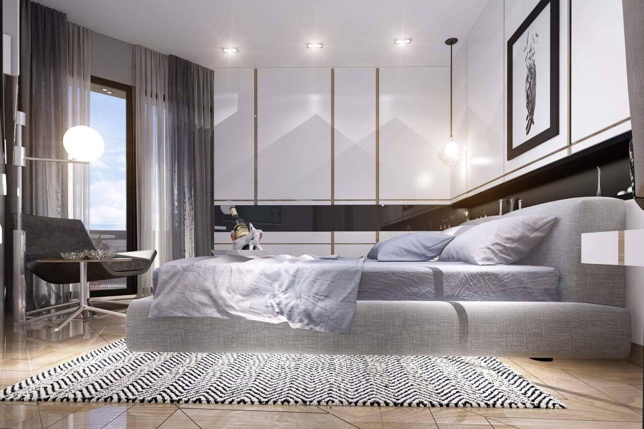Kartal Marina Residence yatak odası tasarımı