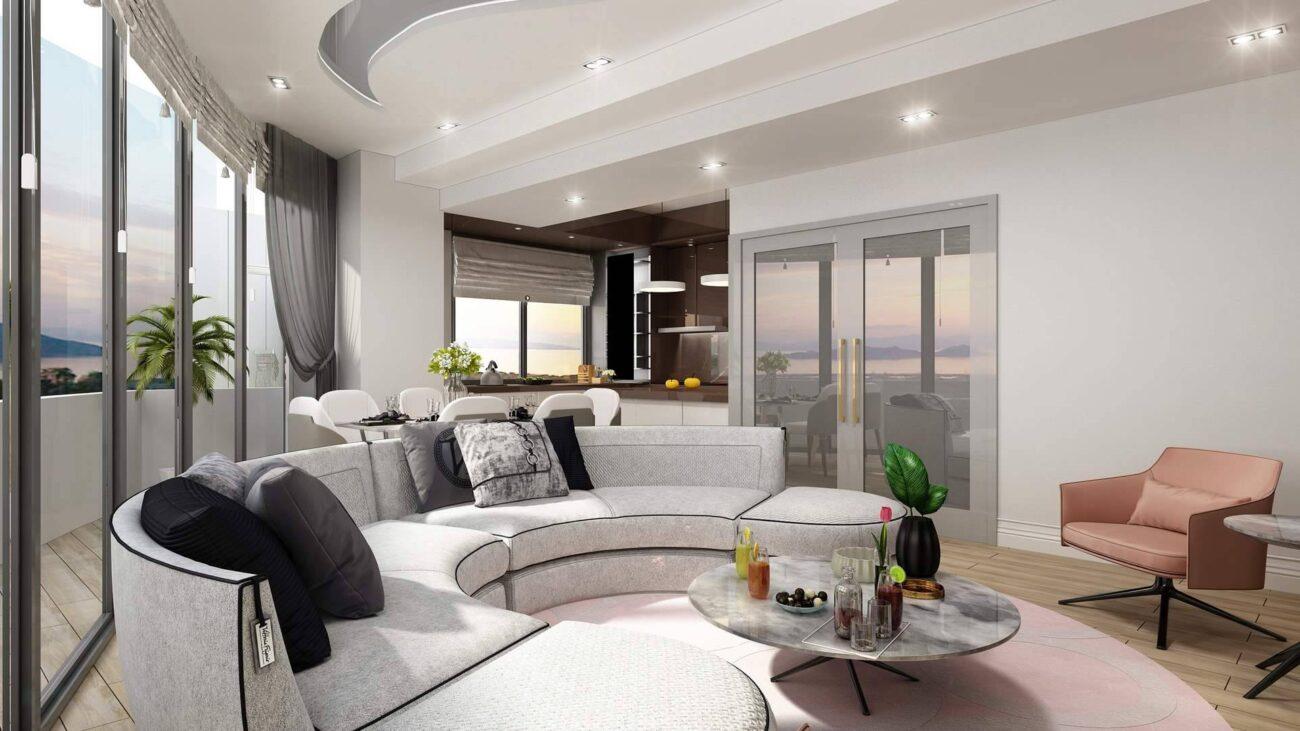 Kartal Marina Residence salon tasarımı