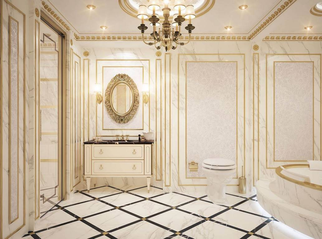 Florya Malikane banyo dekorasyonu