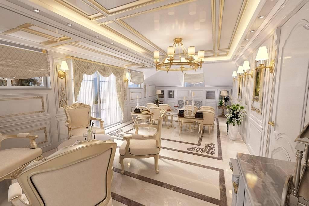 Malikane misafir odası tasarımı