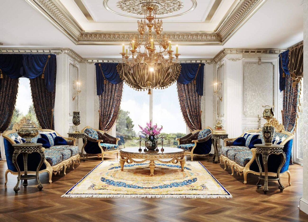Malikane oturma odası tasarımı