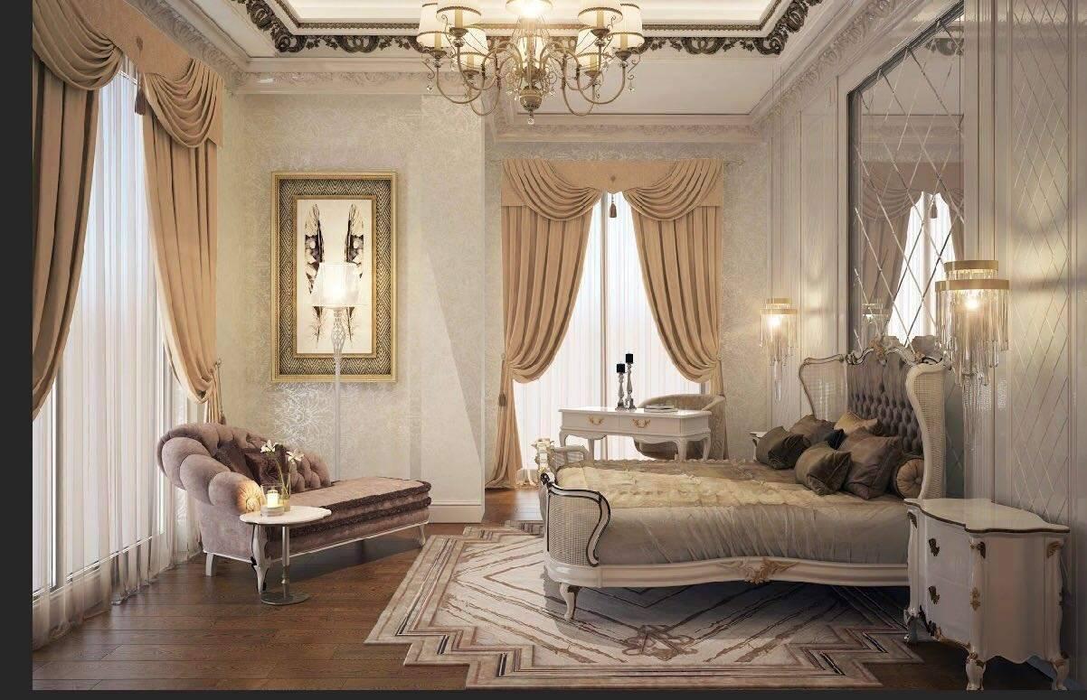 Malikane yatak odası tasarımı