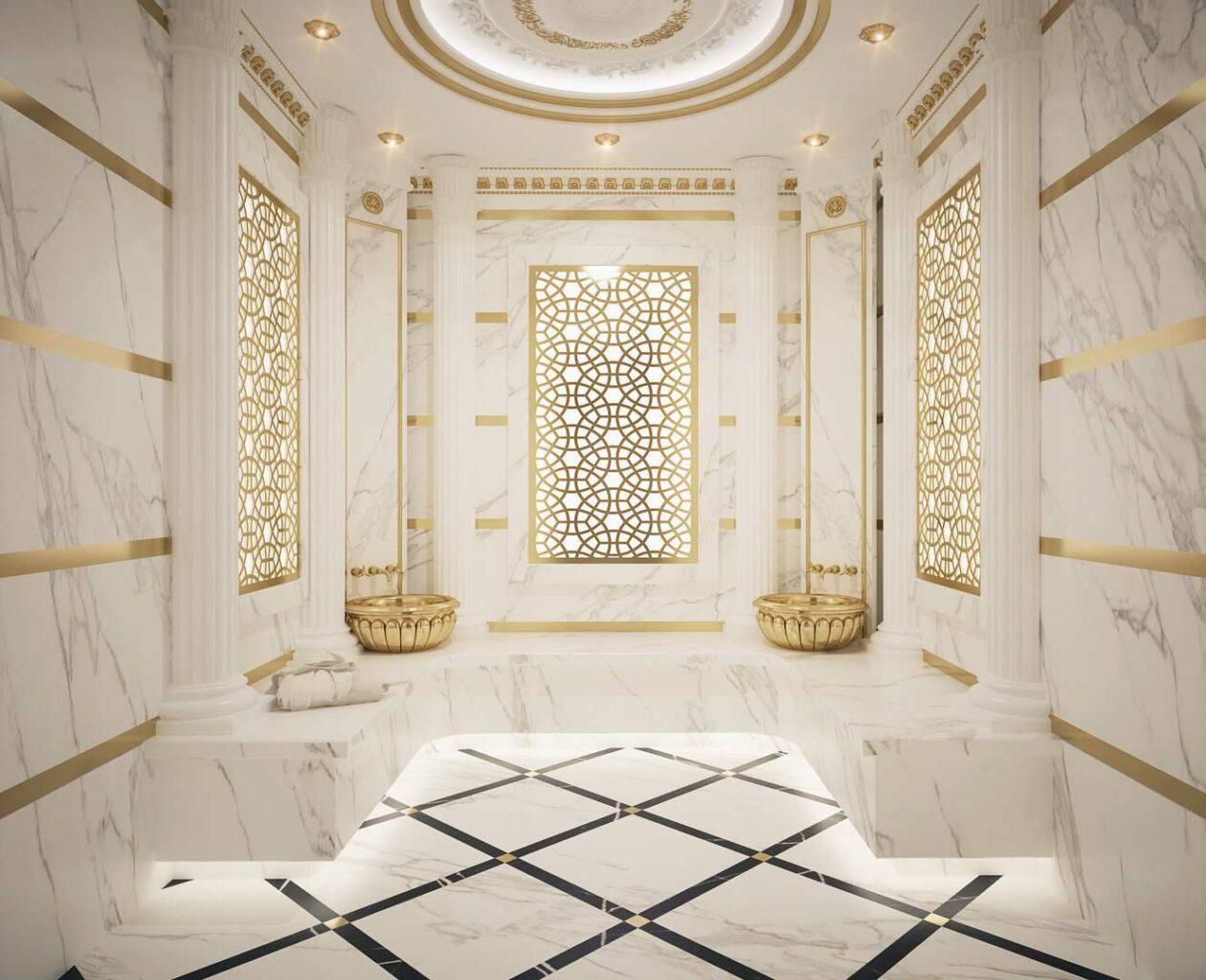 Malikane hamam tasarımı