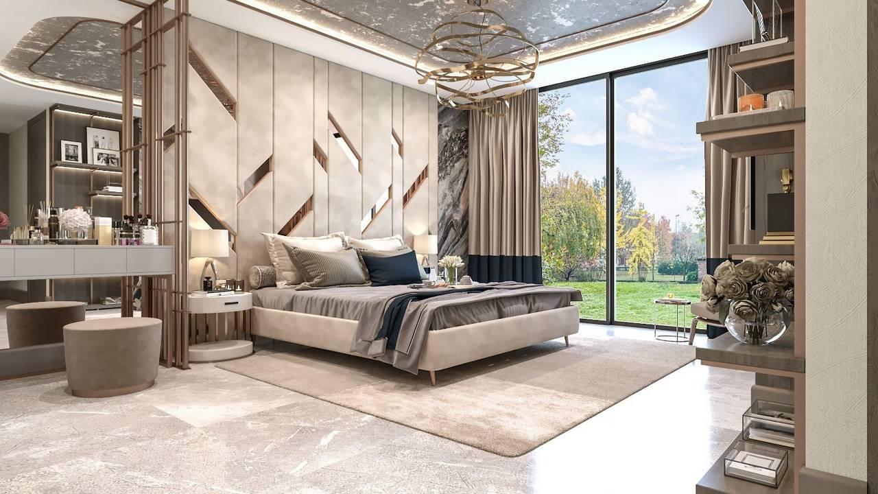 Necef Malikane yatak odası dekorasyonu
