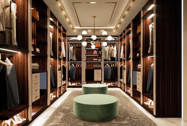 Necef Malikane giyinme odası tasarımı