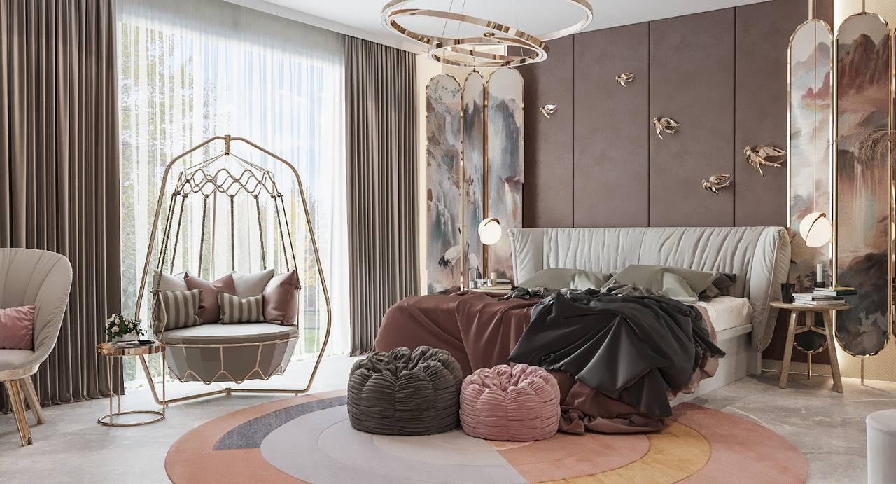 Necef Malikane yatak odası tasarımı