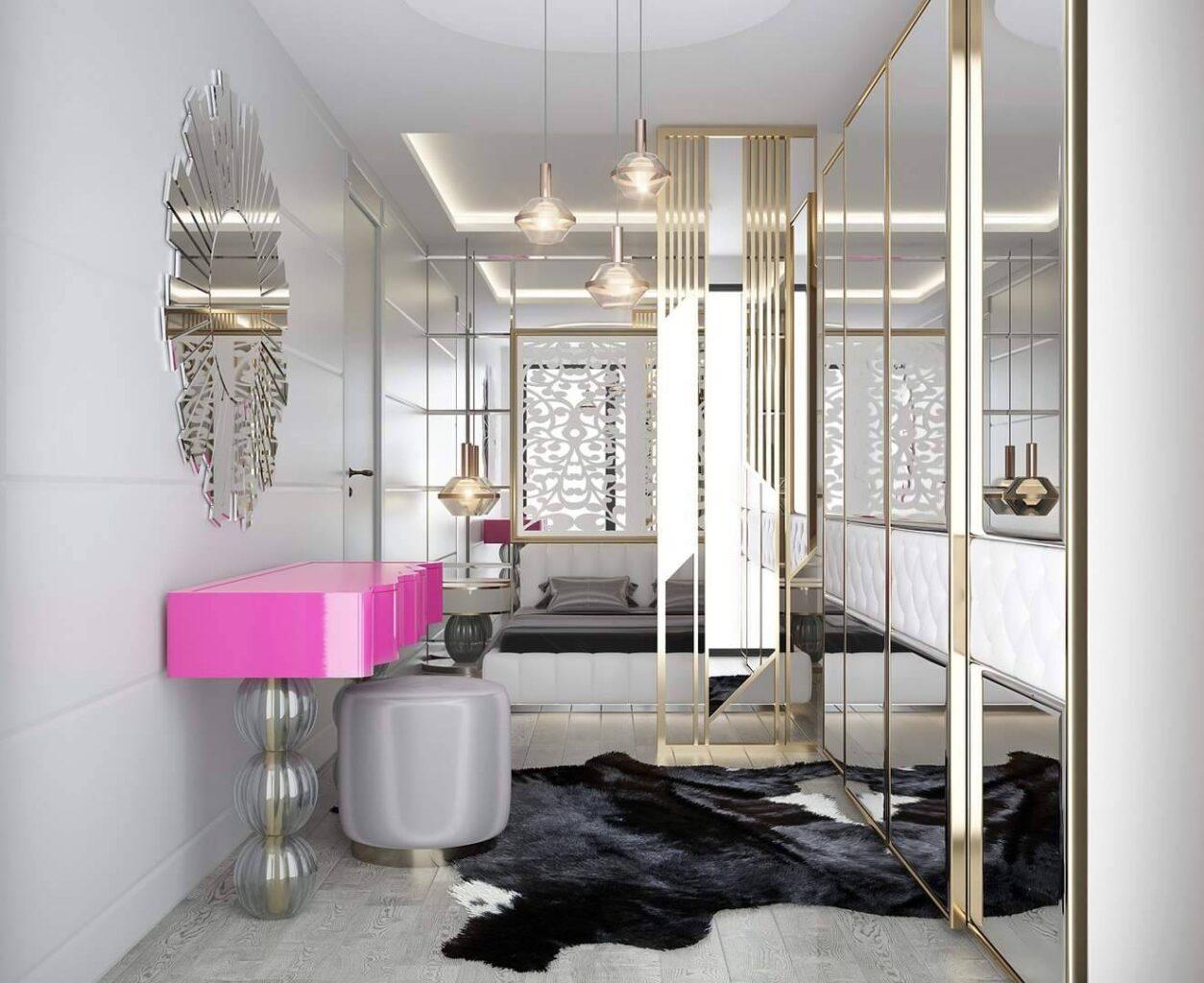 Parl Planet Evleri giyim odası dekorasyonu