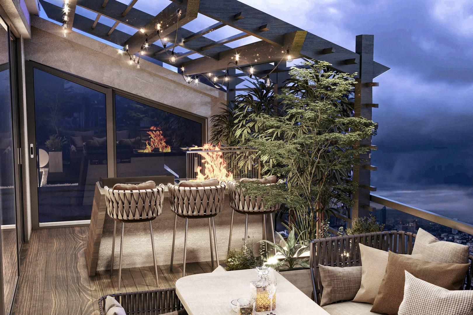 Suadiye Dublex balkon iç mimari tasarım