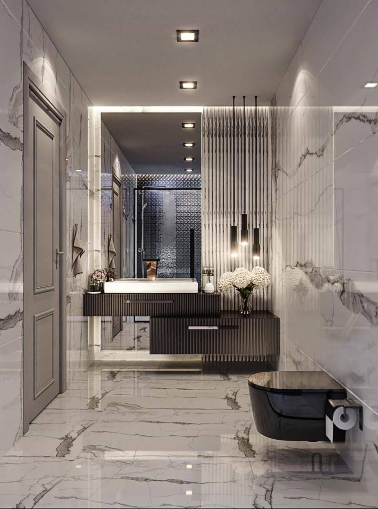 Suadiye dublex banyo iç mimari tasarımı