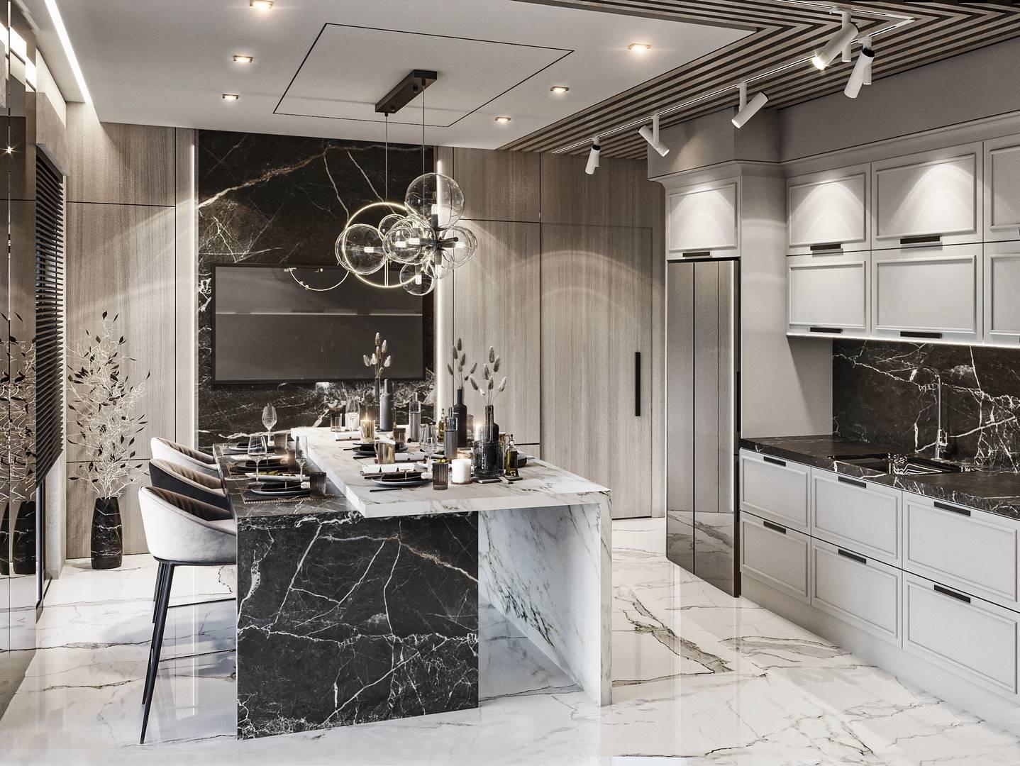 Suadiye dublex mutfak tasarımı