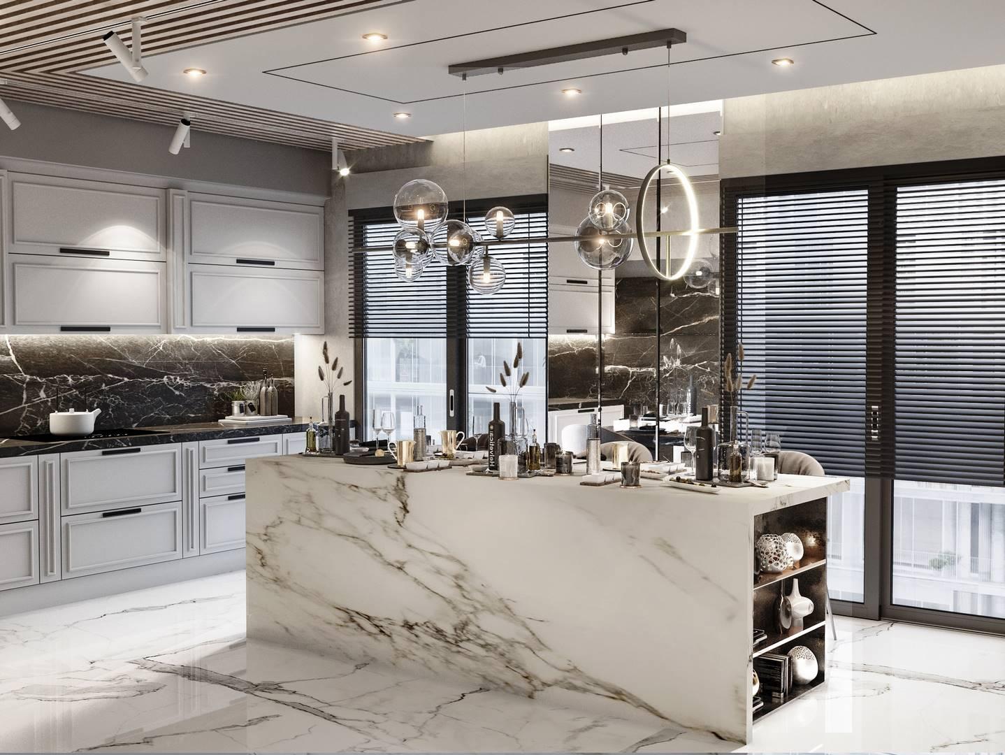 Suadiye dublex mutfak iç mimari