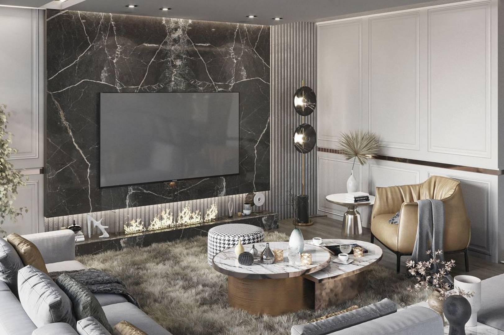 Suadiye dublex salon dekorasyonu