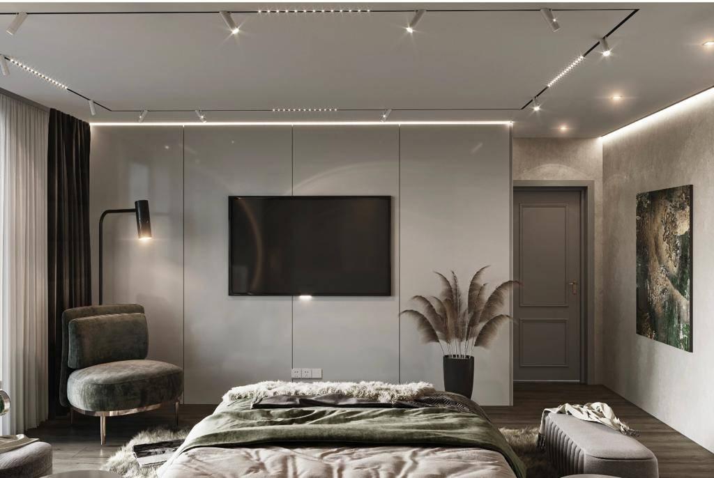 Suadiye dublex yatak odası iç mimari tasarımı
